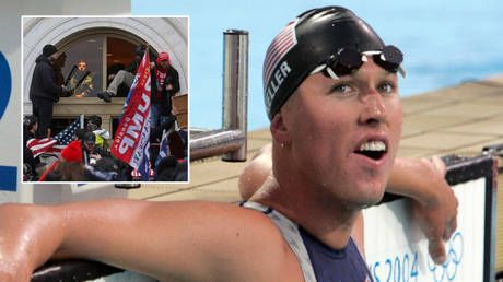 Five-time Olympic medalist swimmer Klete Keller deletes social media accounts amid uproar after being spotted at US Capitol riots