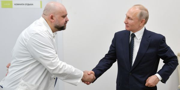 Russian doctor who shook Vladimir Putin's hand tests positive for coronavirus