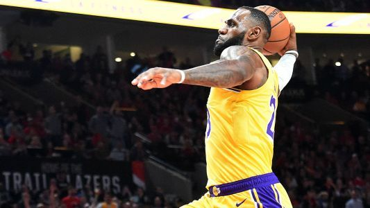 NBA wrap: LeBron James has spectacular start in Lakers debut, but LA falls to Trail Blazers
