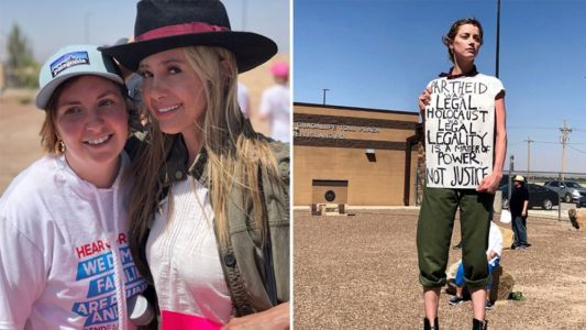 Celebrities traveled to the border to protest the separation of immigrant families this past weekend
