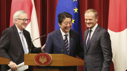 In Face Of Protectionism, EU And Japan Sign Huge Open-Trade Deal
