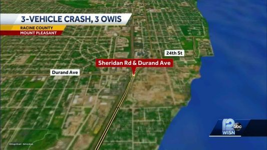 3-vehicle crash leads to 3 drivers being arrested on OWI charges