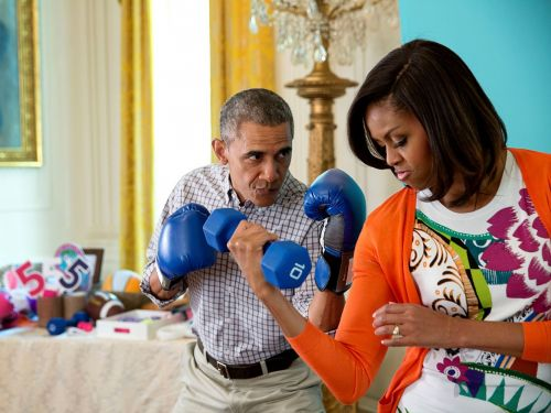 Michelle Obama shared her 'go-to' workout playlist that includes Lizzo, Ariana Grande, and J-Lo