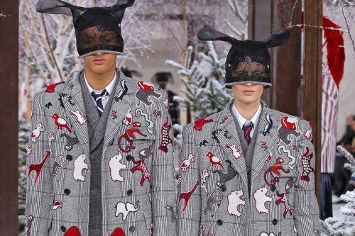Thom Browne FW20 Spotlights Men's & Women's Collections Together for First Time