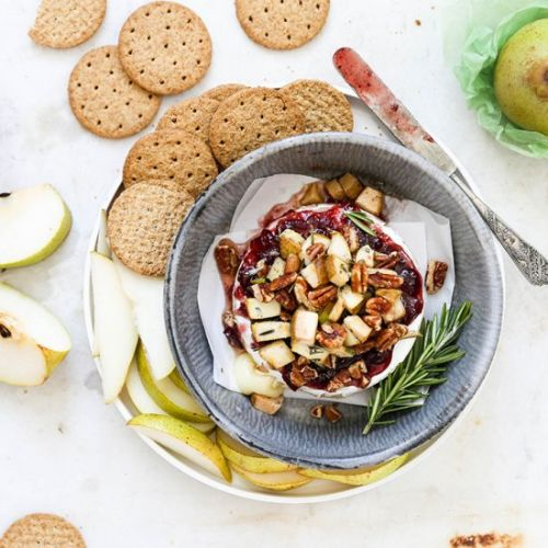 Cranberry-Pear Baked Brie