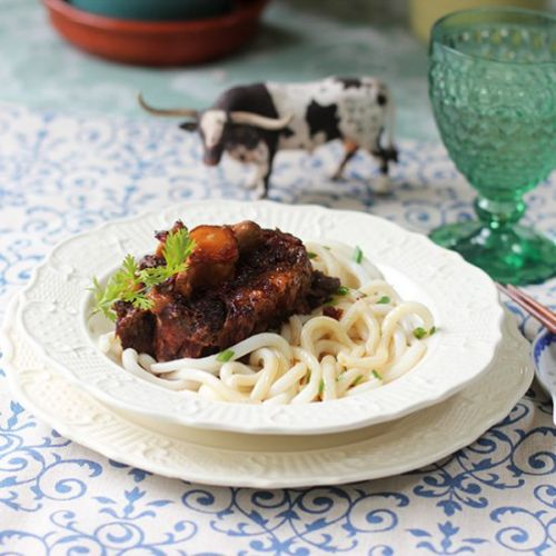 Asian Oxtails with Udon Noodles