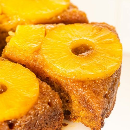 Bourbon Pineapple Upside Down Cake