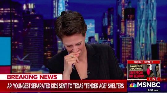 Rachel Maddow breaks down in tears on air while reading about babies detained at US border