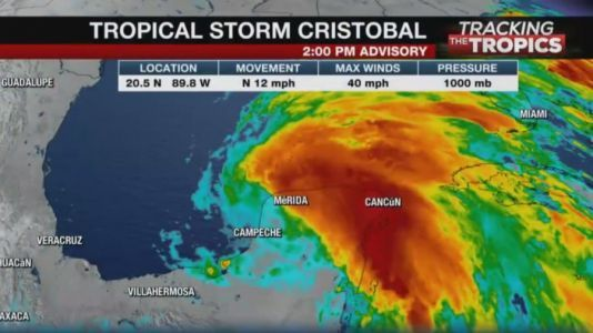 Tracking the Tropics: Cristobal strengthens to tropical storm, watches in effect for parts of Gulf Coast