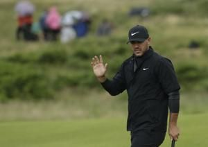 The Latest: Fleetwood takes early clubhouse lead in British