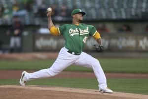 Montas leads A's to 6th straight win, 3-0 over Tigers