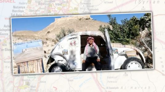 The Smallest Hotel In The World Is An Old Volkswagen Beetle In The Jordanian Desert