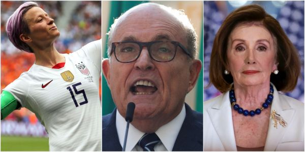 Greta Thunberg, Megan Rapinoe, and Rudy Giuliani made Time magazine's Person of the Year shortlist for 2019