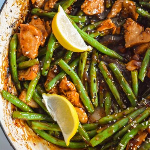 Honey Lemon Chicken & Green Beans