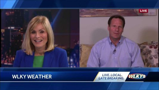 Social Distancing: Chief Meteorologist Jay Cardosi forecasts the weather from home