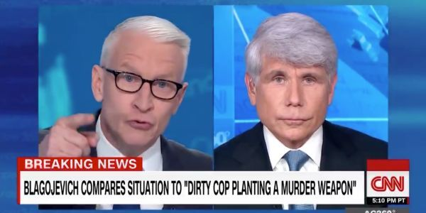 'It's still frankly just bulls-': Anderson Cooper calls out former Illinois Gov. Rod Blagojevich for claiming he's a 'political prisoner'