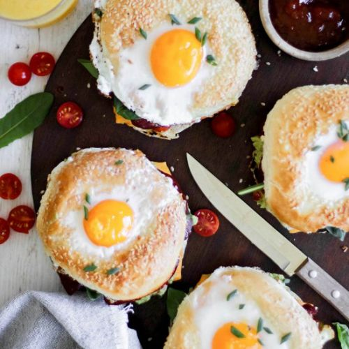 Chorizo and Relish Egg in a Hole