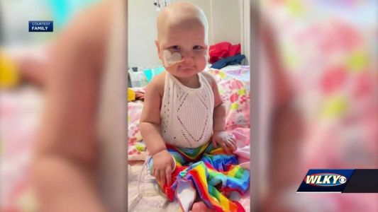 1-year-old with rare cancer celebrates first birthday at home, after months in the hospital