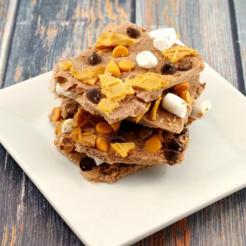 Chocolate Rocky Road Froyo Bark