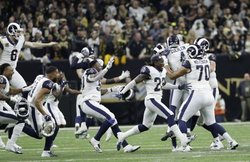 NFC championship: Rams defeat Saints in overtime