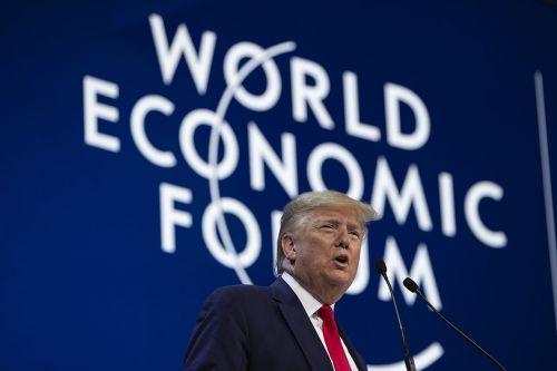 Trump brags of U.S. 'blue-collar boom' on world stage at Davos