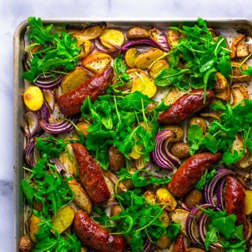 Spicy Sausage and Apple Bake