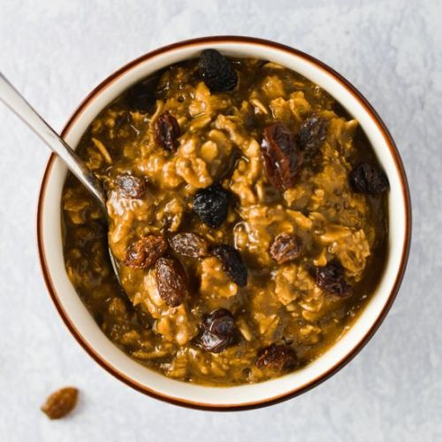 Coffee Cinnamon Raisin Oatmeal