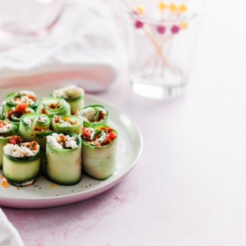 Holiday Appetizer Cucumber Rolls