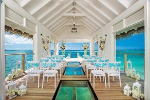 Over-the-water wedding chapel & bar in Sandals Montego Bay