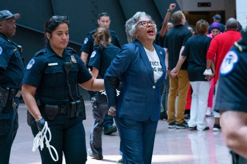 Black Caucus Chair arrested during protest in Capitol complex