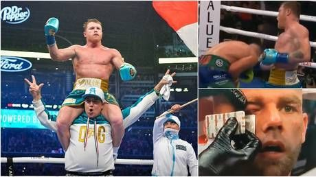 'You don't talk trash to Canelo': Alvarez forces Saunders to quit on stool after vicious uppercut in front of 73,000 fans