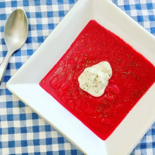 Beet Soup with Dill & Cashew Cream