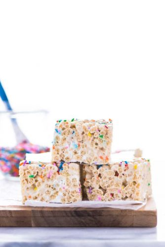 Gluten Free Cake Batter Rice Krispie Treats