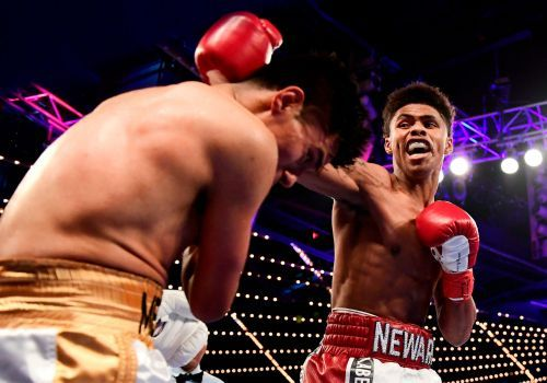 A 22-year-old from New Jersey is the mirror-image of Floyd Mayweather, and could 'exceed' the boxing legend's achievements, his promoter claims