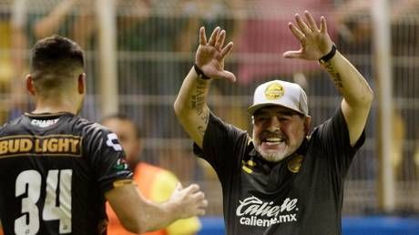 Maradona breaks out dance moves after Dorados victory to put health scare behind him