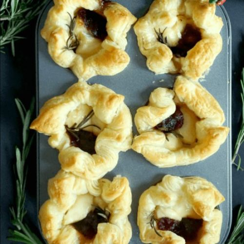 Brie and Cranberry Bites