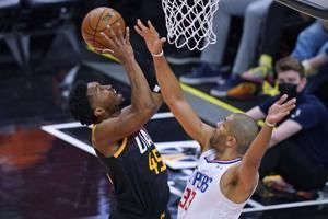 Mitchell has 37, Jazz beat Clippers 117-111 for 2-0 lead
