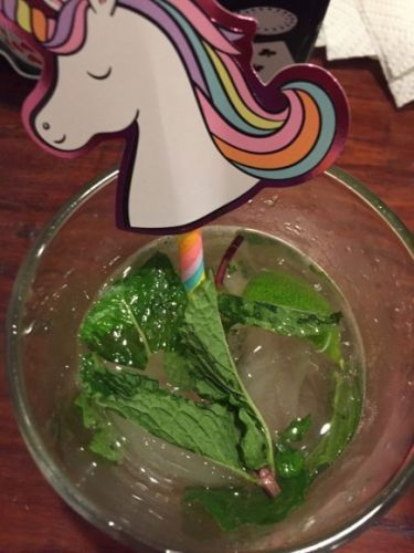 What I'm Drinking: The Mojito with a Rainbow UnicornStraw