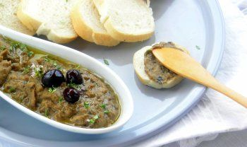 Pressure Cooker Eggplant and Olive Spread