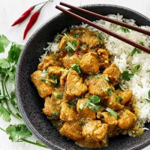 Thai Curry Chicken with Rice