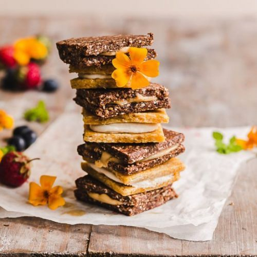 Apricot and Chocolate Snack Bars