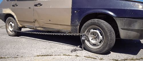 How to Chain Your Car Up Like a Bicycle