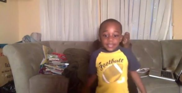Boy's awesome celebration as he reads 100 books in one day