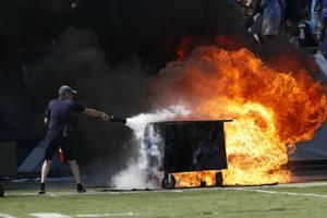 The Latest: Broncos' Bolles called for 4 holding penalties