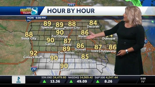 A mix of sunshine and clouds Monday