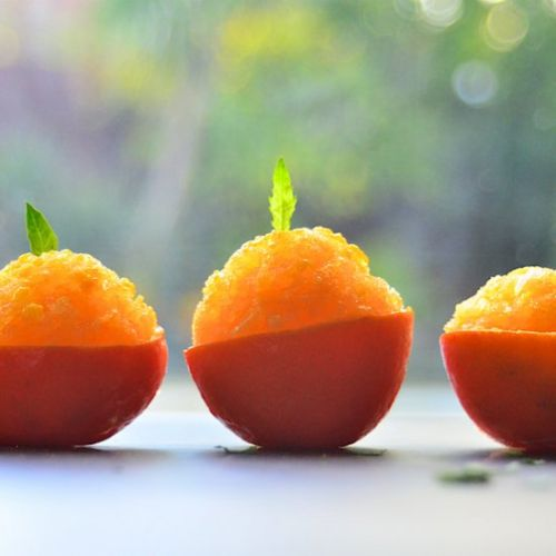 Orange Sorbet | A Palate Cleanser