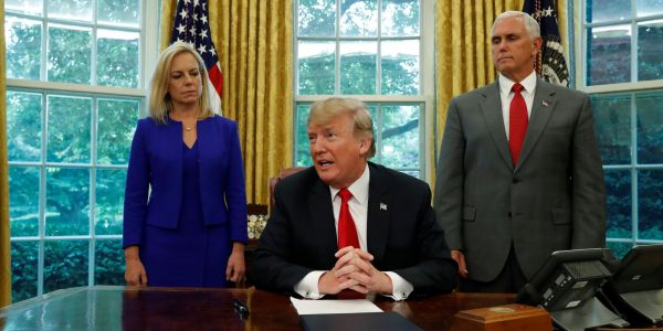 Trump turned on a dime and acted to stop the family-separation policy after saying he had no control over it