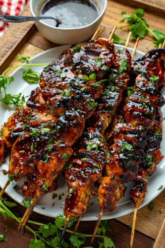 Honey Chipotle Grilled Chicken Skewers