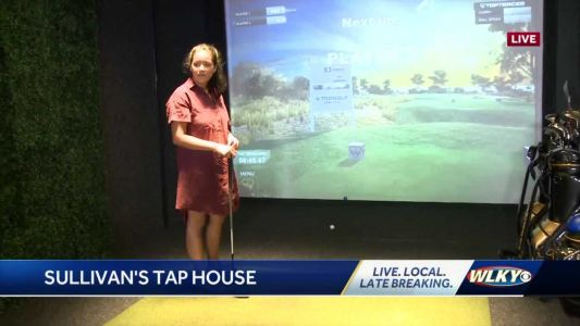 Local restaurant giving patrons Top Golf experience with new simulator