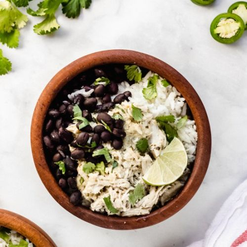 Verde Chicken & Black Bean Bowls